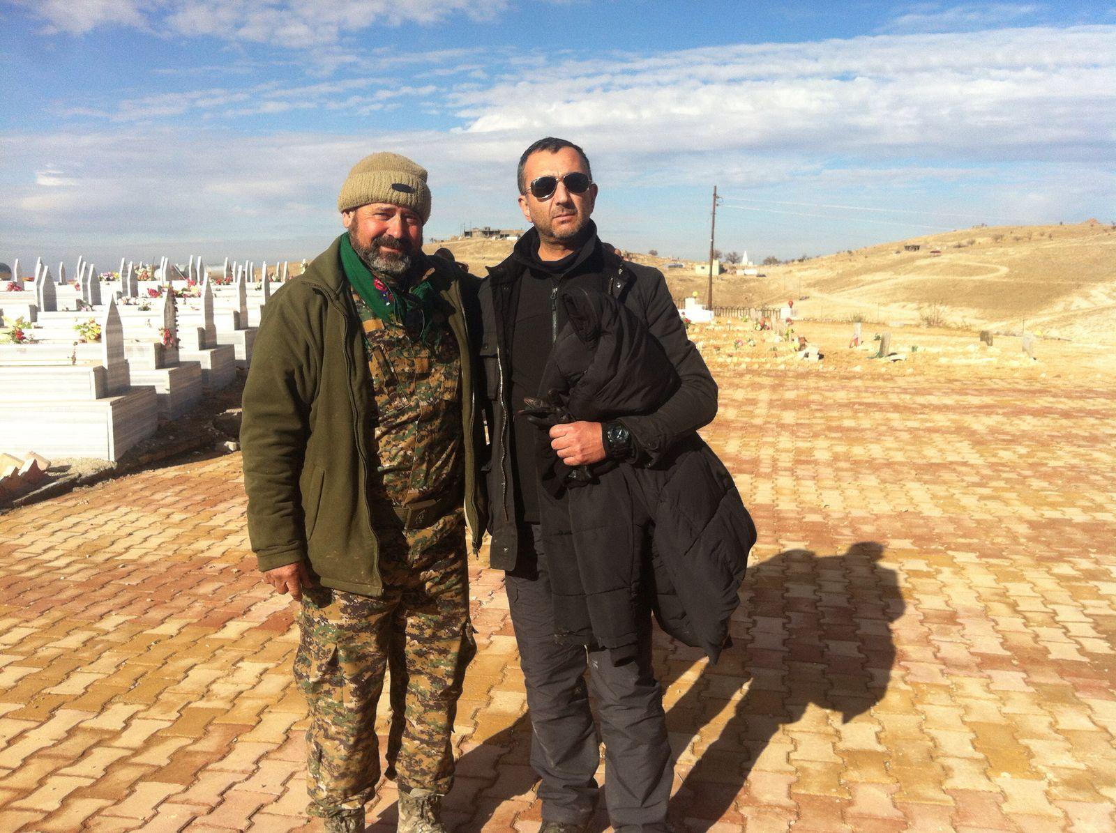 Visita de Manuel Andrino a Simón de Monfort en el Kurdistán Iraquí en su combate contra el DAESH