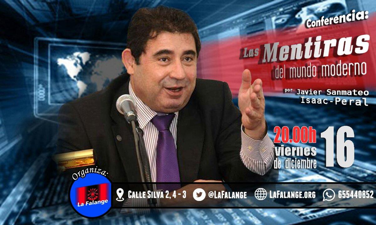"""Conferencia """"Las Mentiras del mundo moderno"""", por Javier Sanmateo Isaac-Peral"""
