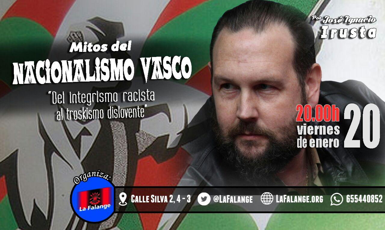 """Vídeo de la conferencia de José Ignacio Irusta: """"Mitos del Nacionalismo Vasco"""""""