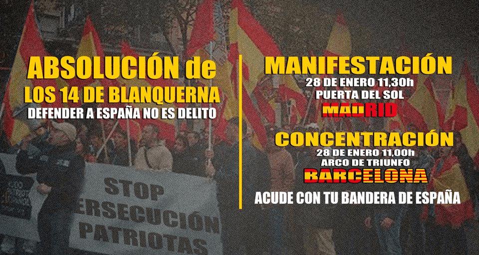 Actos por la absolución de los 14 patriotas de Blanquerna