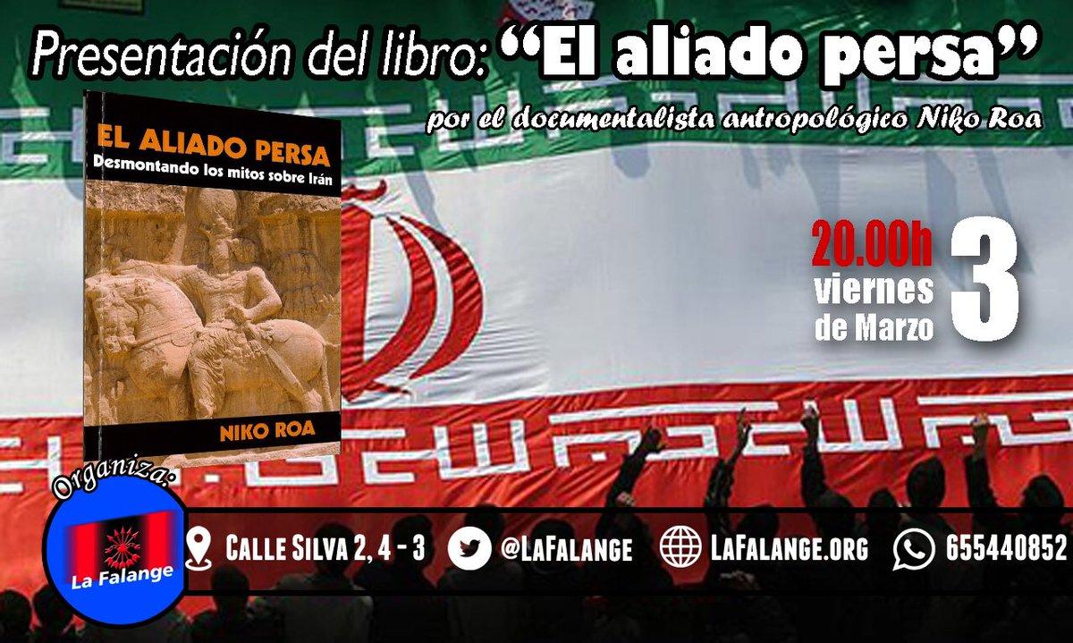 """Próxima presentación del libro """"El aliado persa"""" a cargo de su autor, Niko Roa"""