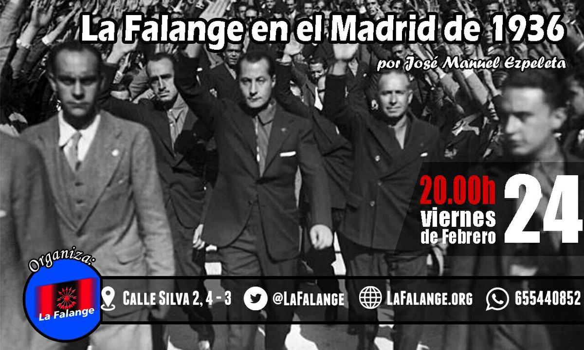 """Conferencia """"La Falange en el Madrid de 1936"""", a cargo de José Manuel Ezpeleta"""