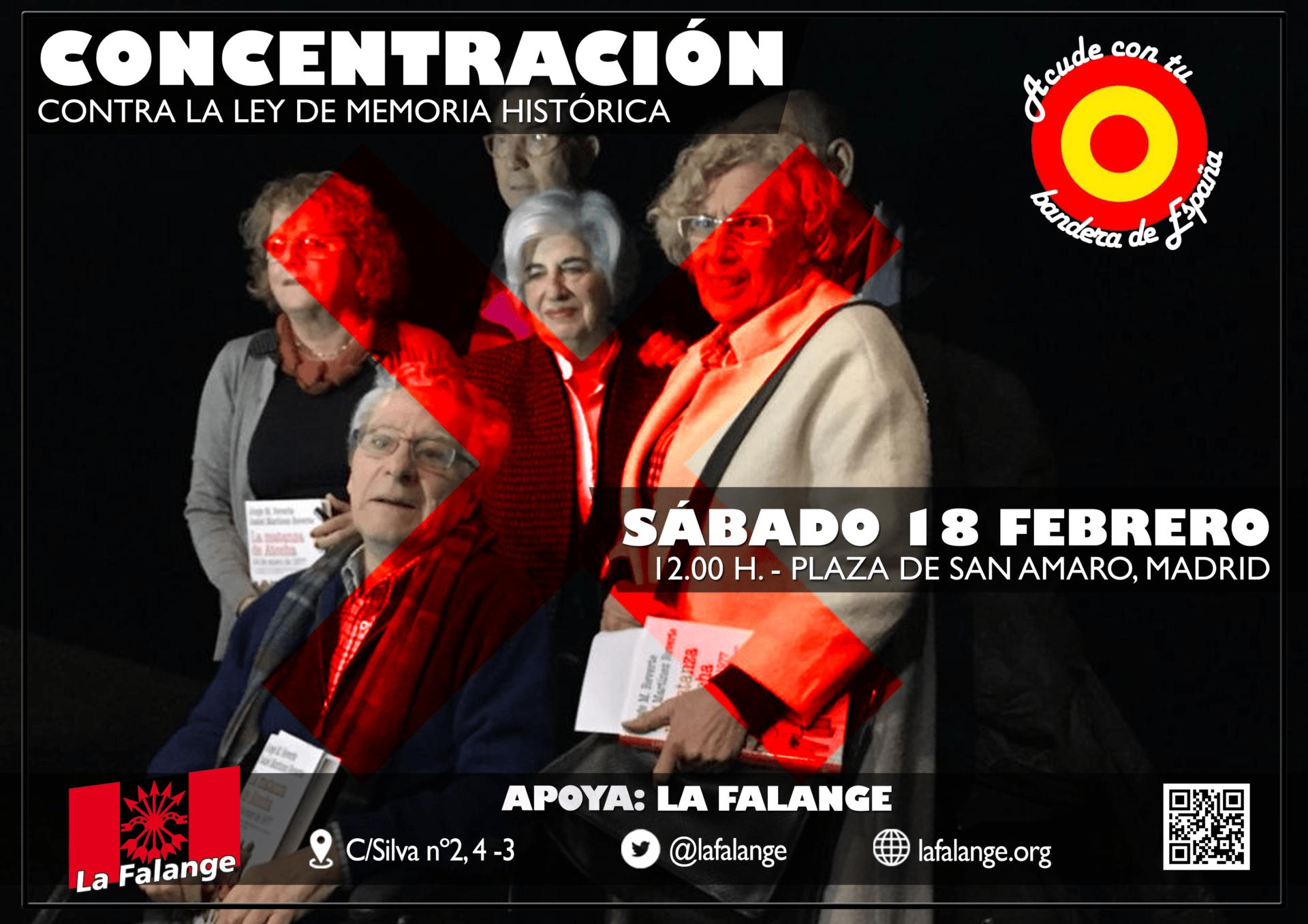 Concentración contra la Ley de Memoria Histórica Sábado 18 de Febrero