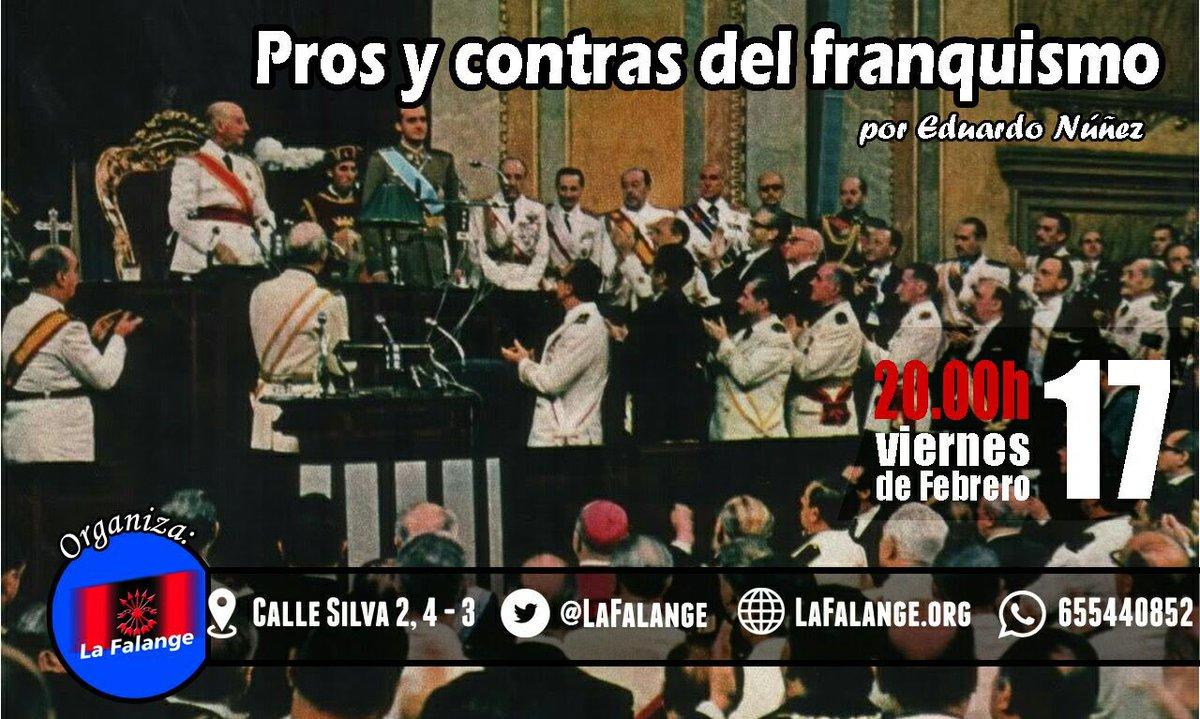 """""""Pros y contras del franquismo"""", conferencia a cargo de Eduardo Núñez"""