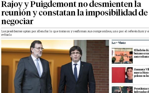 Rajoy negociando con separatistas que se saltan leyes y conspiran contra la unidad de España