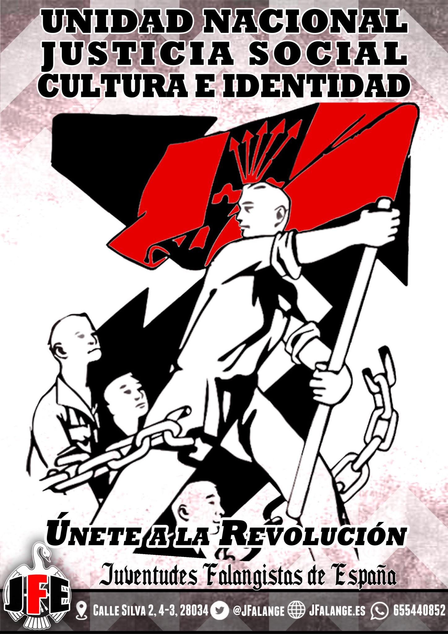Afíliate a las Juventudes Falangistas de España. ¡Únete a la Revolución!