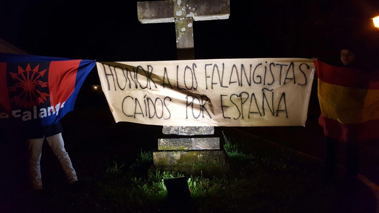 La Falange de Cantabria, en campaña conjunta con Madrid. #TerrorRojoEnMadrid