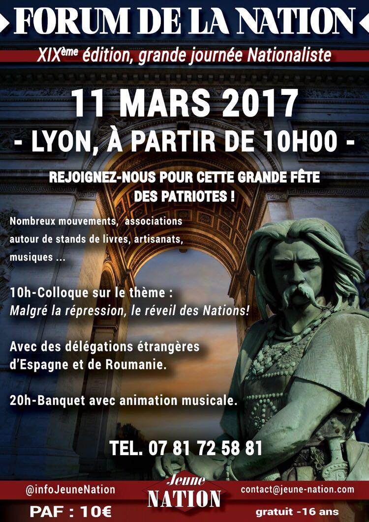 """La Falange en el """"Forum de La Nation"""" organizado por Jeune Nation."""