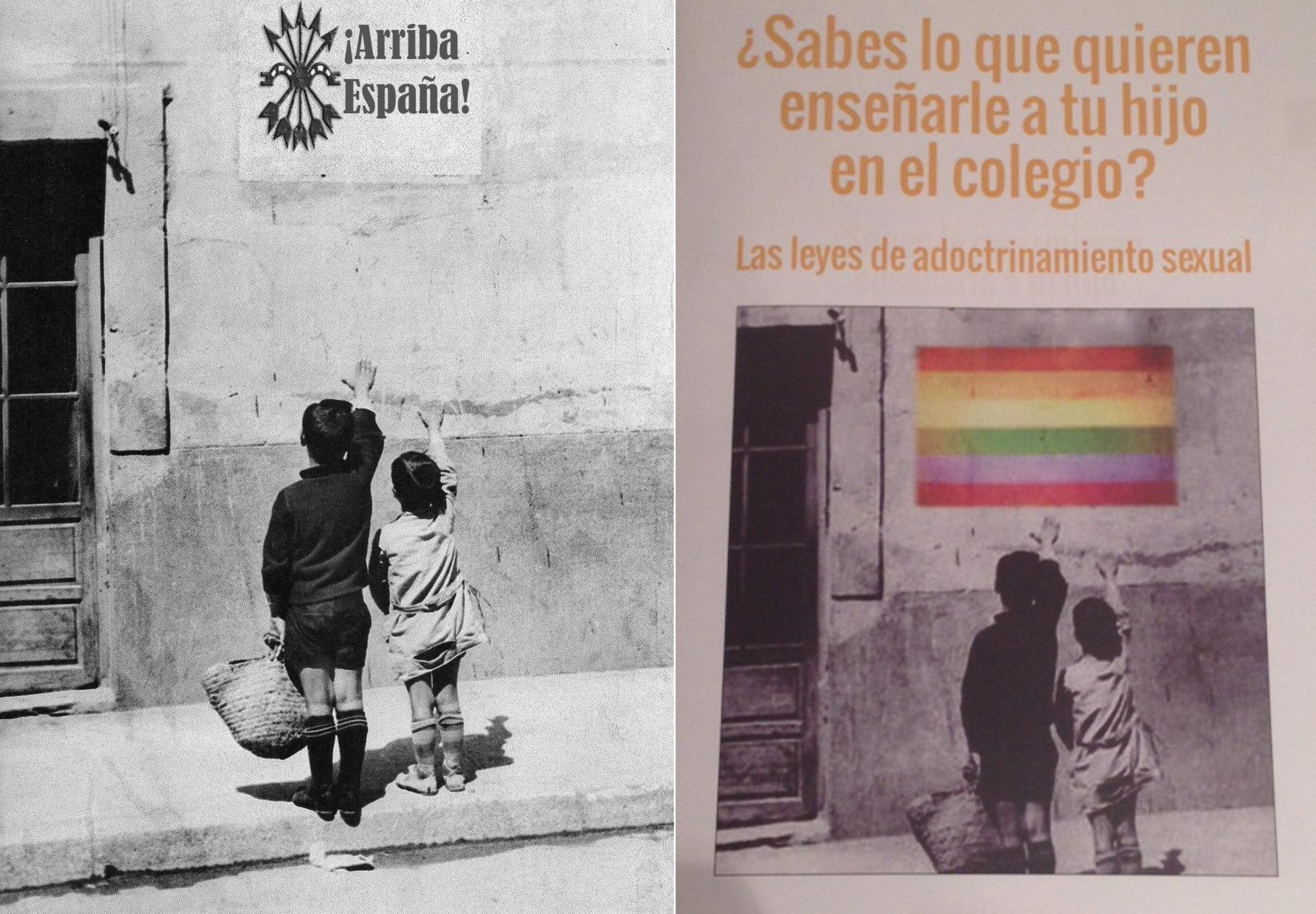 """Respuesta del Jefe Nacional de La Falange Manuel Andrino ante el bochornoso panfleto de """"Hazte Oír"""" en la manifestación del Domingo."""