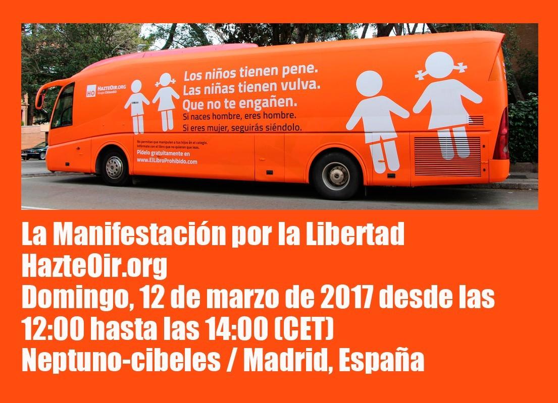 """La Falange muestra su apoyo a la manifestación de """"Hazte Oír"""" el Domingo a las 12:00 horas"""