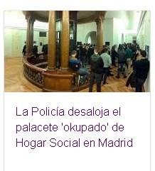 Nuevo desalojo del Hogar Social Madrid. La persecución a los patriotas.