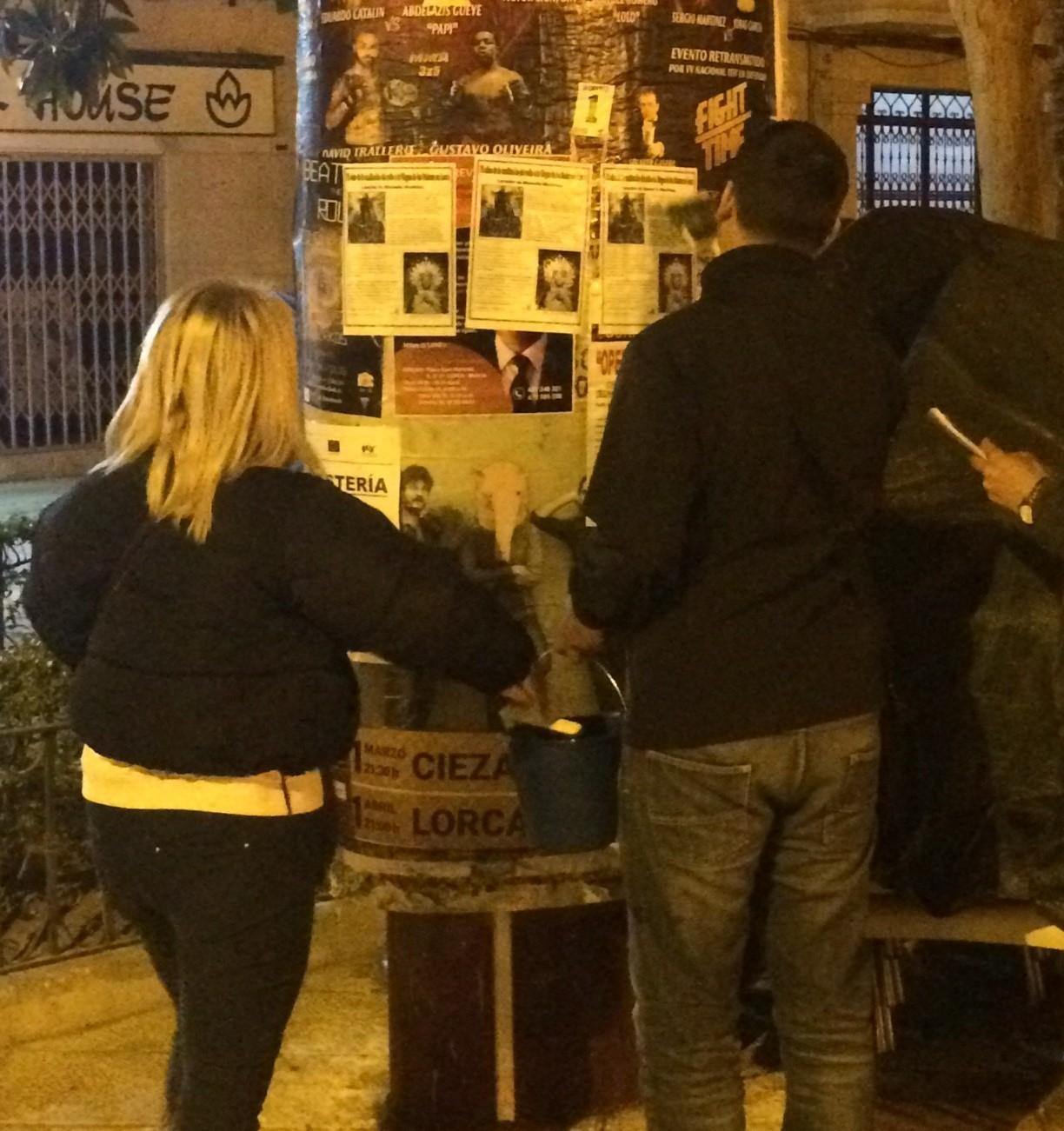 """La Falange da una """"lección"""" de memoria histórica en Lorca."""