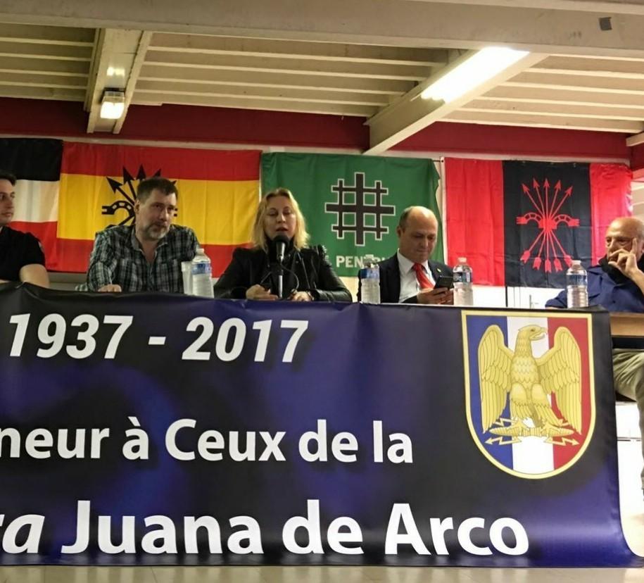 La Falange en el homenaje en Francia a Juana de Arco