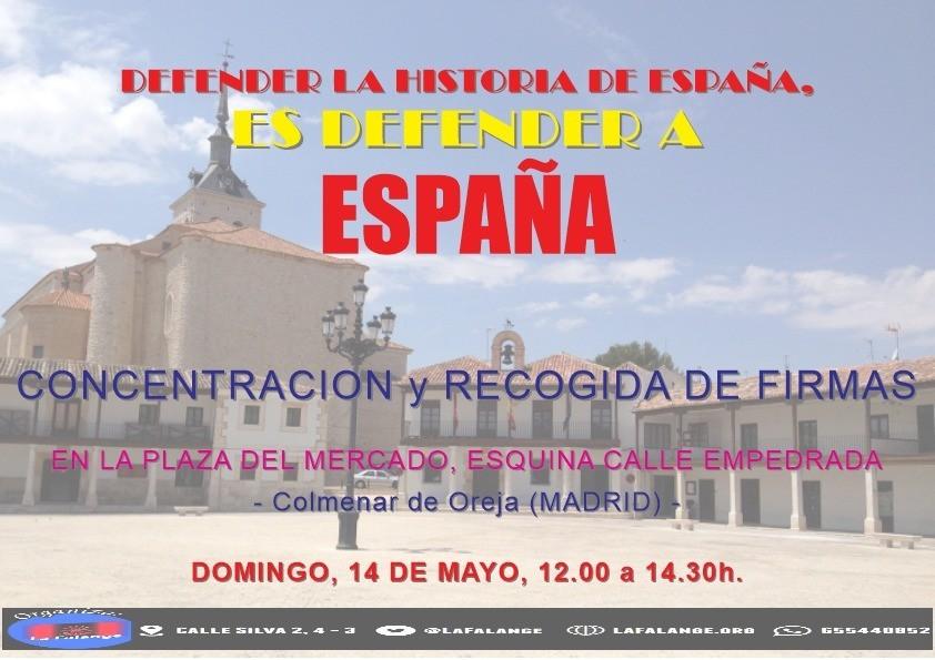 Mesa informativa en Colmenar de Oreja próximo Domingo 14 de Mayo de 12:00 a 14:30 horas en la Plaza de Mercado.
