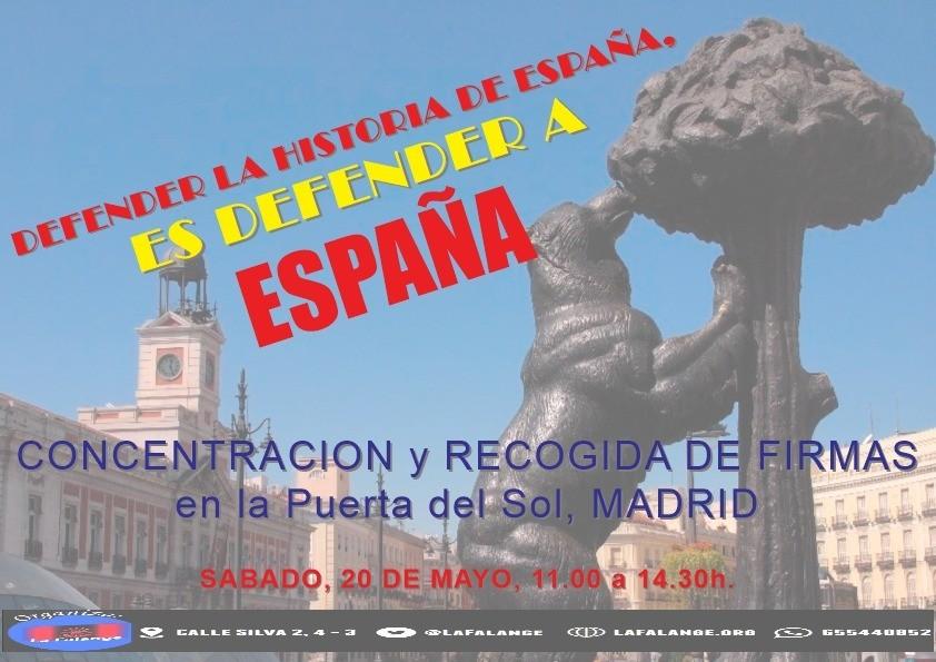 Mesa informativa en la Puerta del Sol – Madrid el Sábado 20 de Mayo de 11:00 a 14:00 h.