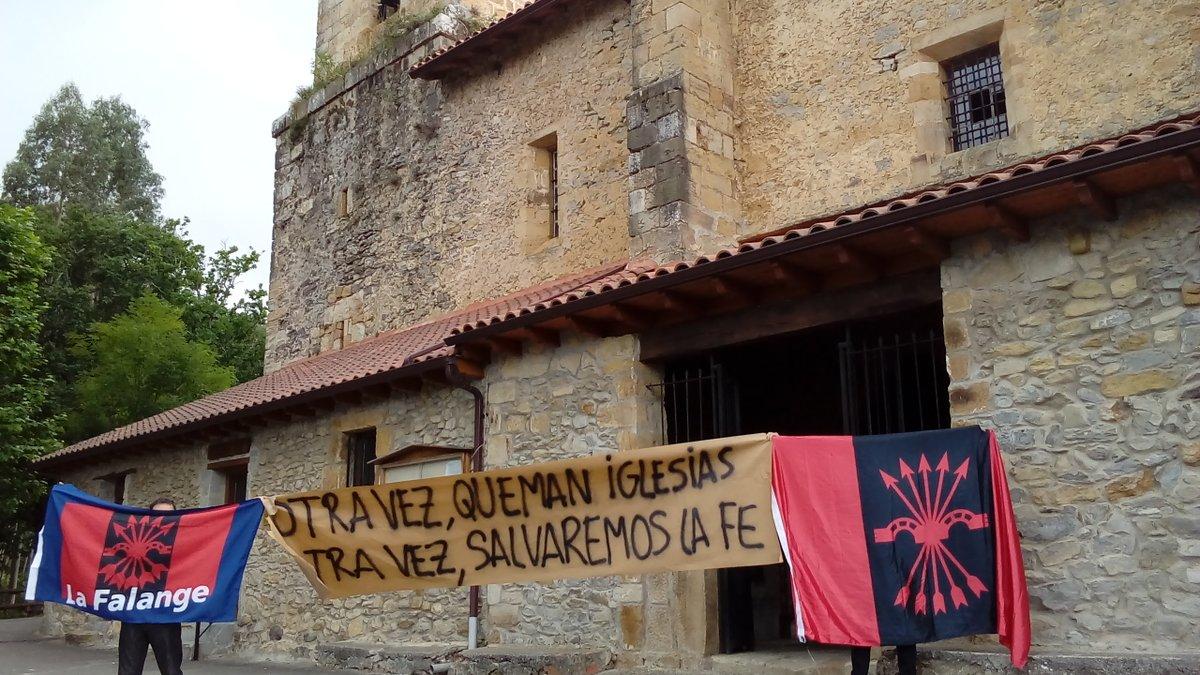 La Falange de Cantabria ante la salvajada en la capilla de la Universidad Autónoma de Madrid