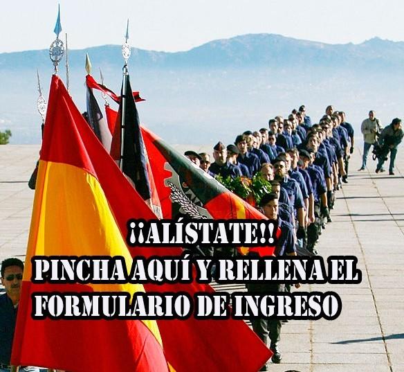 Nuevo banderín de enganche de La Falange