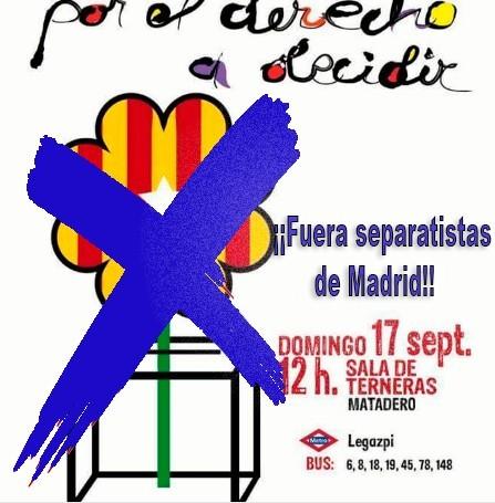 El 17 de Septiembre se convoca a los españoles frente a un acto separatista en Madrid