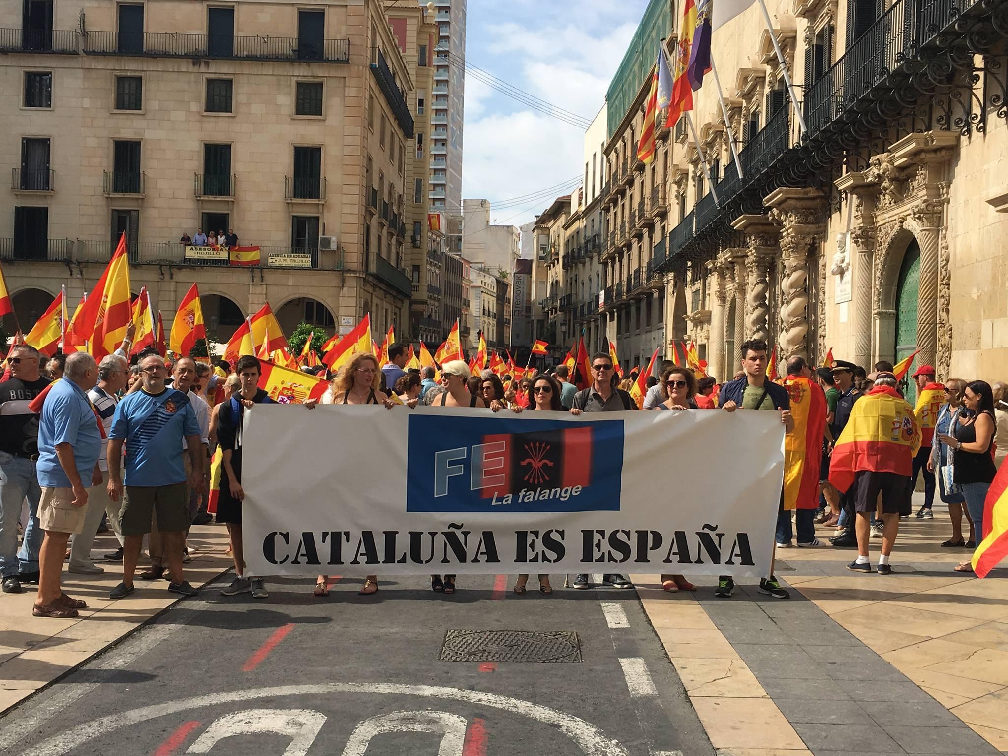 La Falange de Alicante a favor de la unidad de España