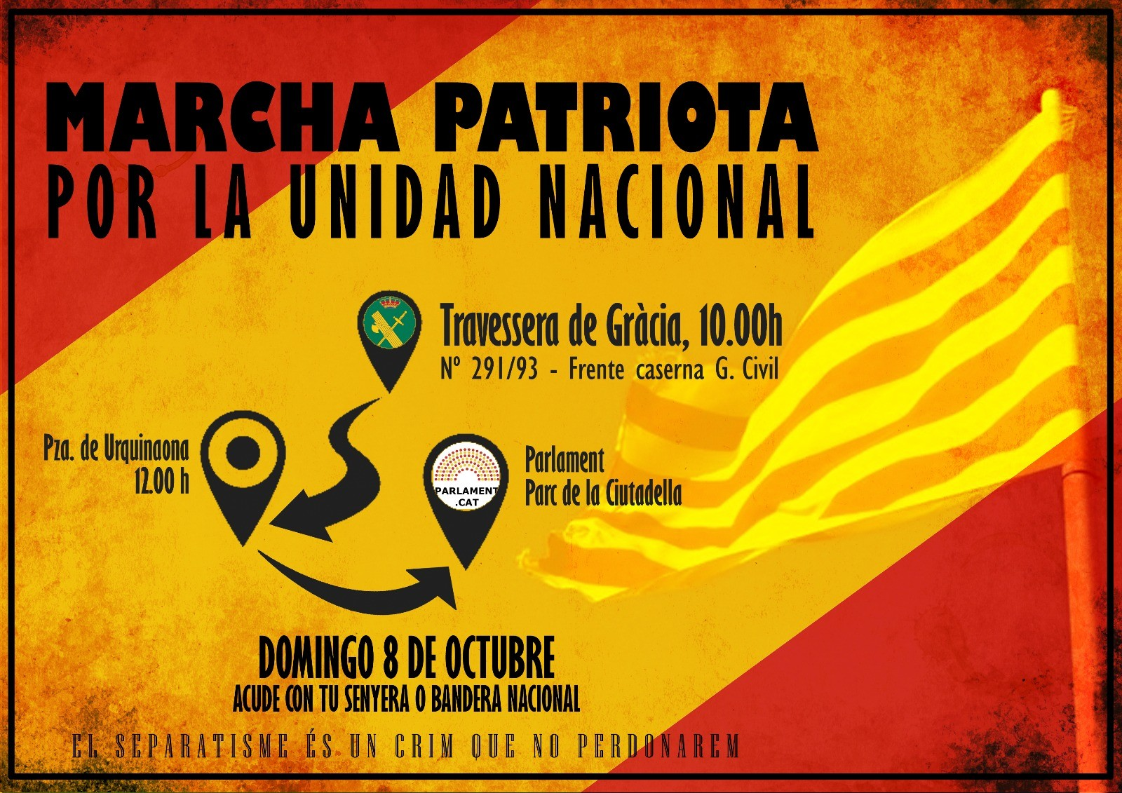 Domingo 8 de Octubre: Todos a Barcelona