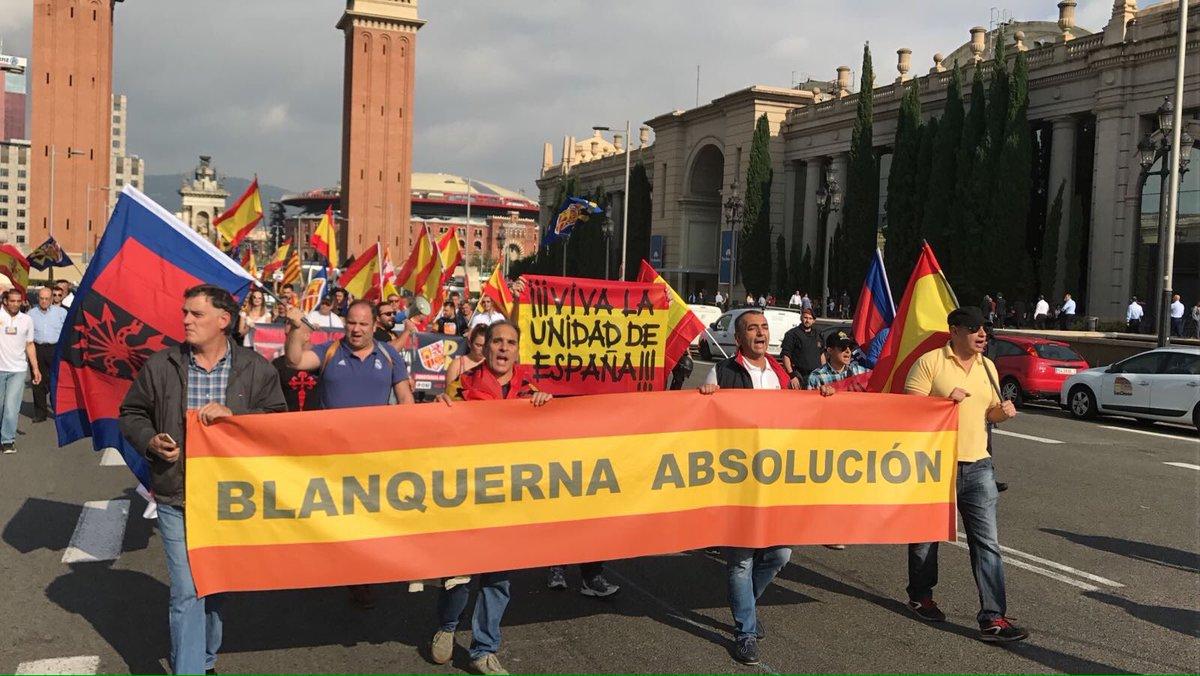 Un 12 de Octubre más, La Falange en Barcelona