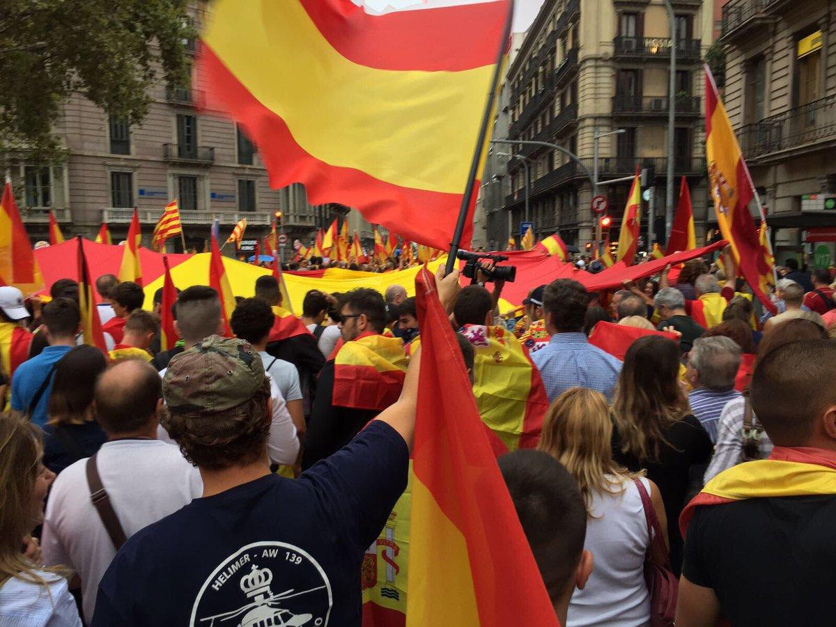 En Barcelona la víspera del 1-O