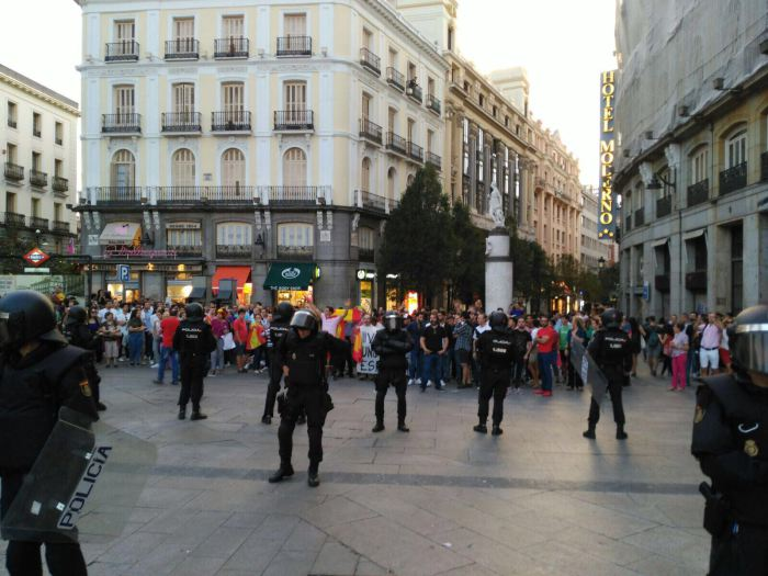 Disturbios en la Puerta del Sol