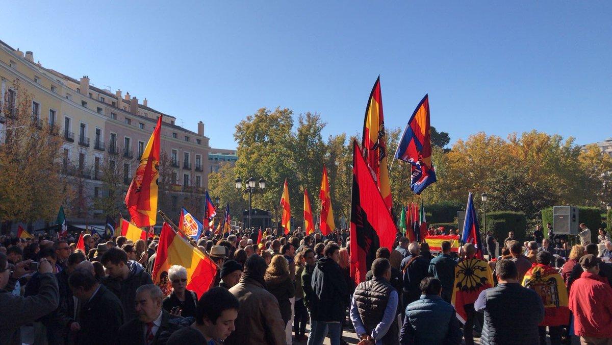 18-N, manifestación en Madrid y acto político en Plaza de Oriente