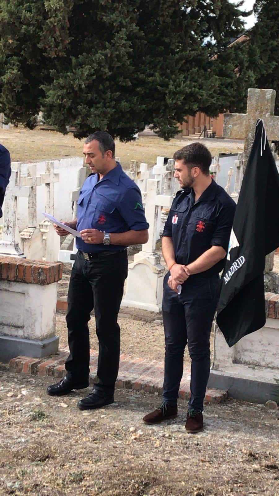 Homenaje del S.E.U. a Alejandro Salazar y demás asesinados en Paracuellos