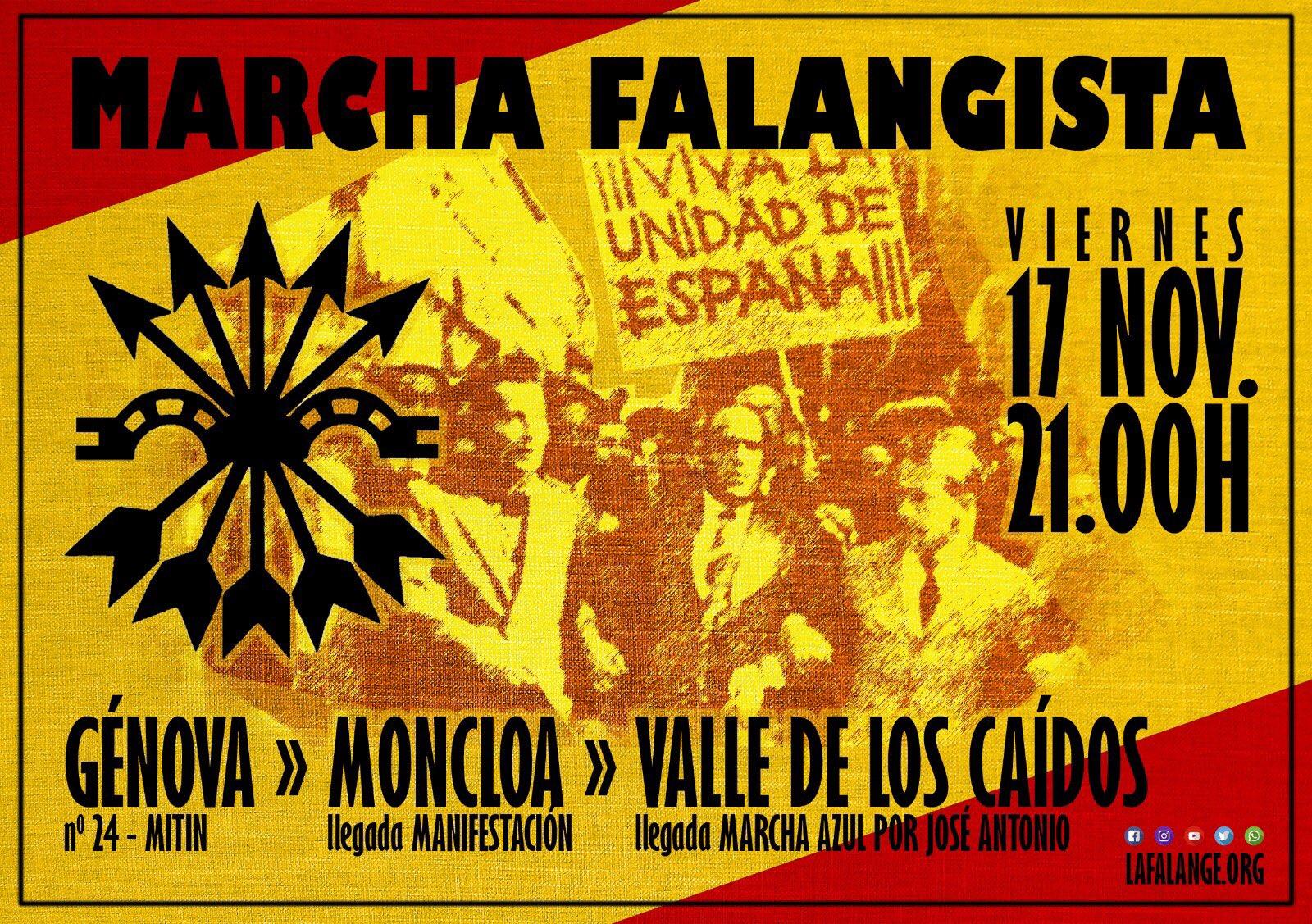17N: Acto Político y Marcha Falangista