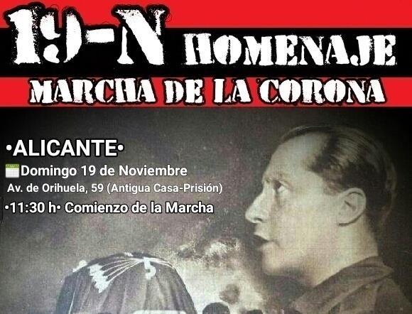 19-N Homenaje a José Antonio en Alicante