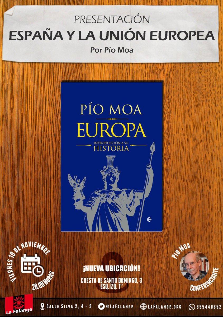 10-N: Pío Moa en nuestros viernes culturales ¡ACUDE!