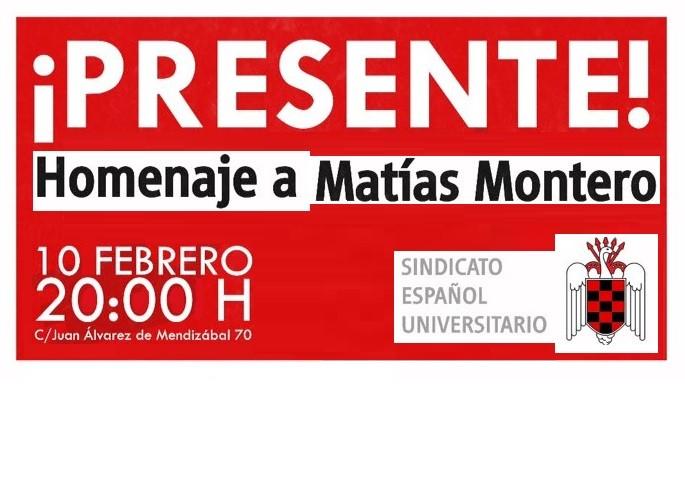10 de Febrero: Homenaje a Matías Montero