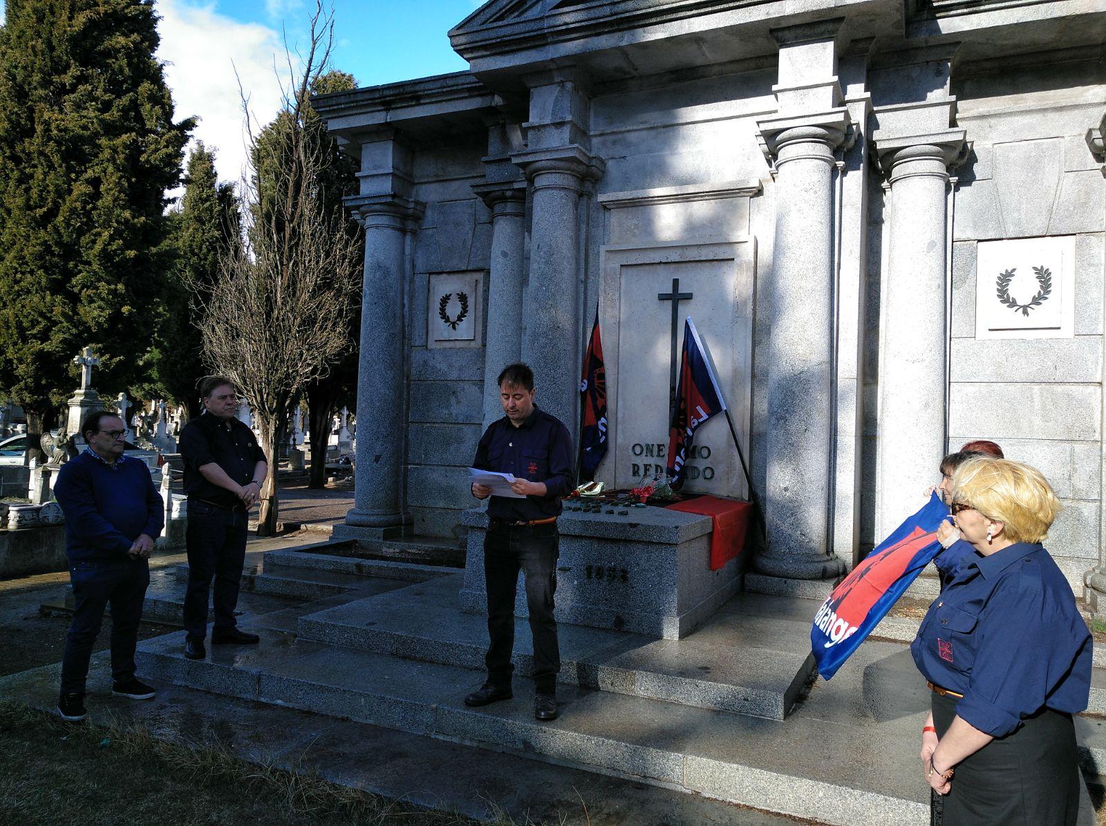 Homenaje a Onésimo Redondo por nuestra Jefatura Territorial en Castilla y León