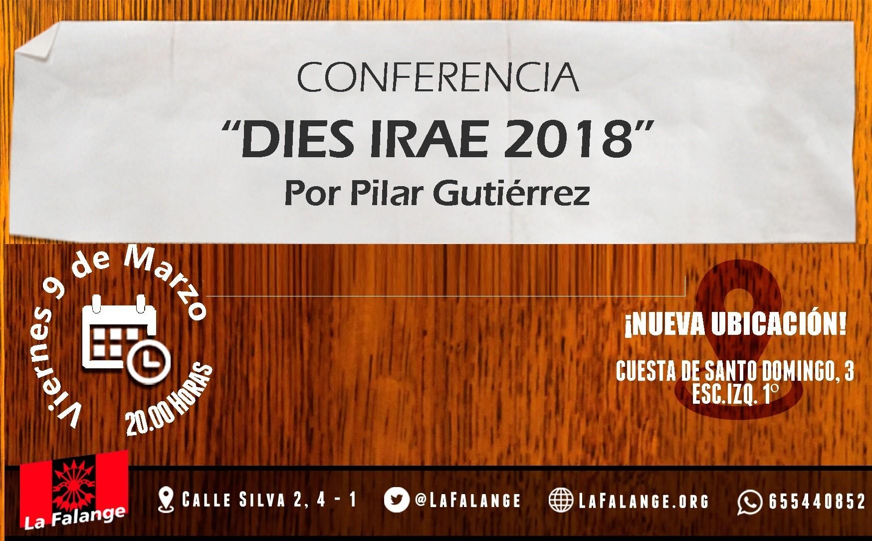 """Este viernes nueva jornada cultural: """"Dies Irae 2018"""" por Pilar Gutiérrez"""