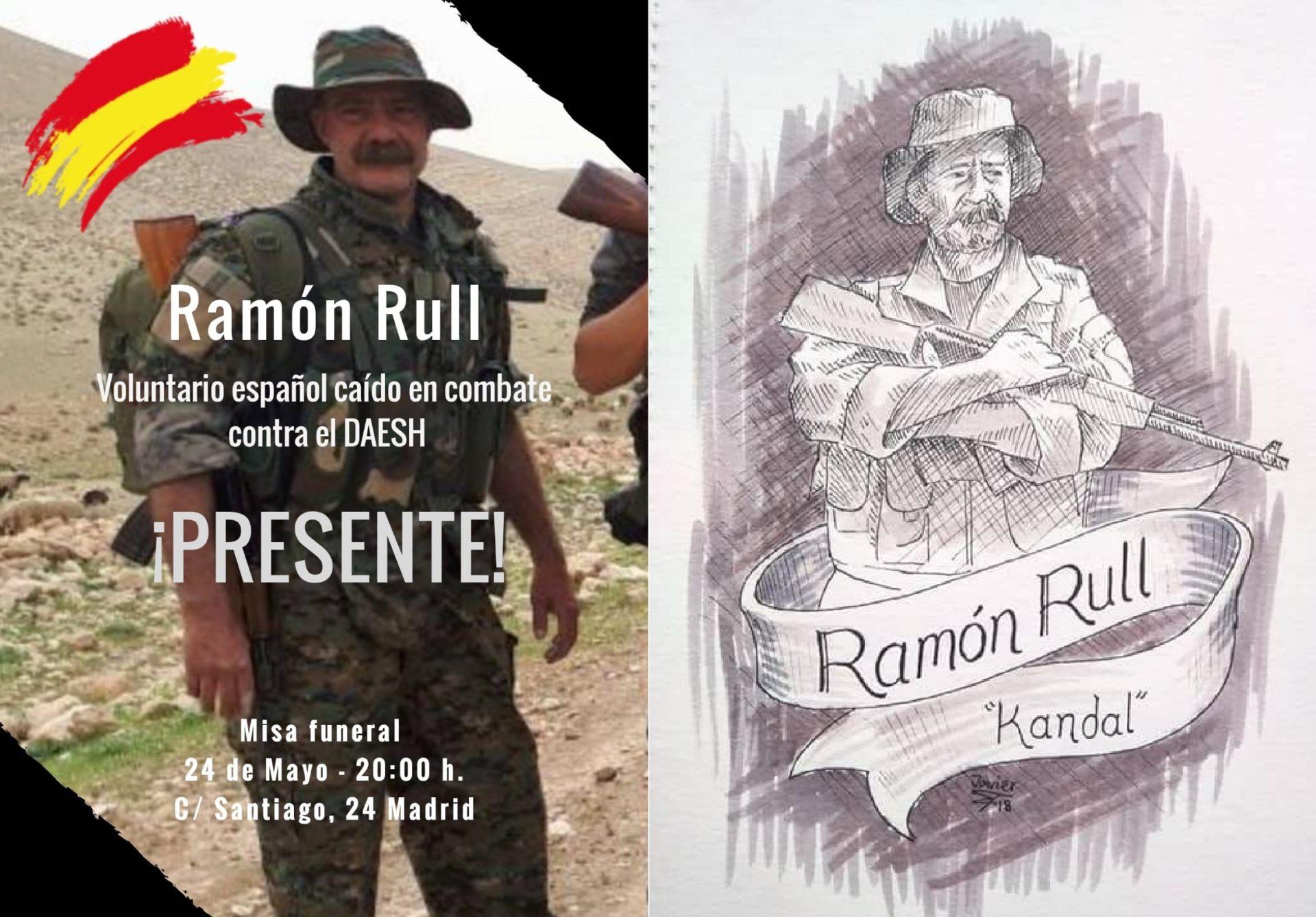 Jueves 24: Misa en Madrid por Ramón Rull: caído combatiendo el DAESH en Siria