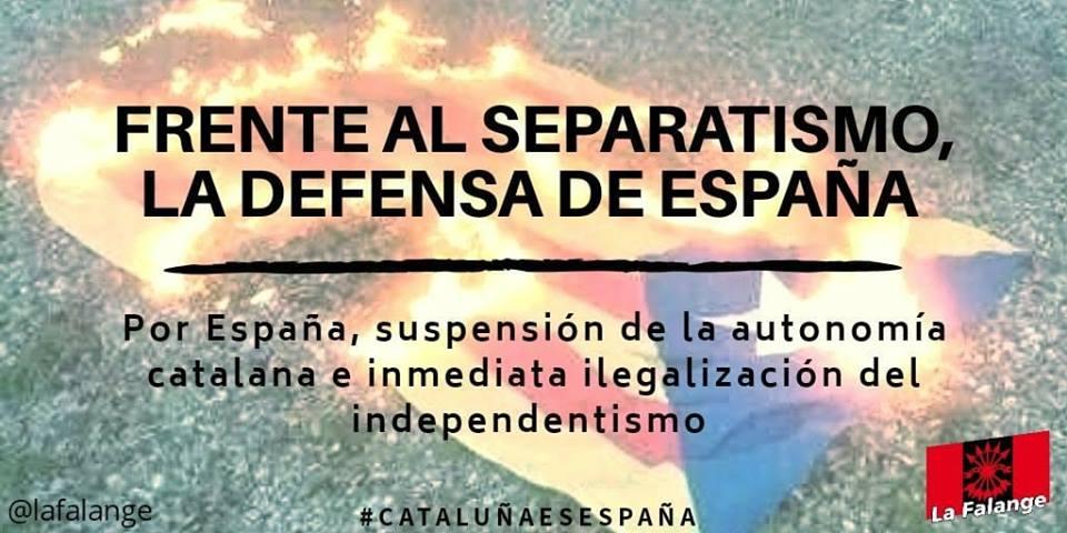 ¡No a los indultos! Los falangistas en defensa de la unidad de España