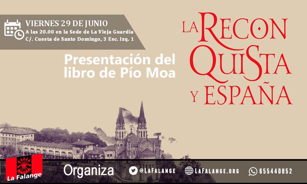 Pío Moa en nuestro próximo viernes cultural. La Reconquista y España
