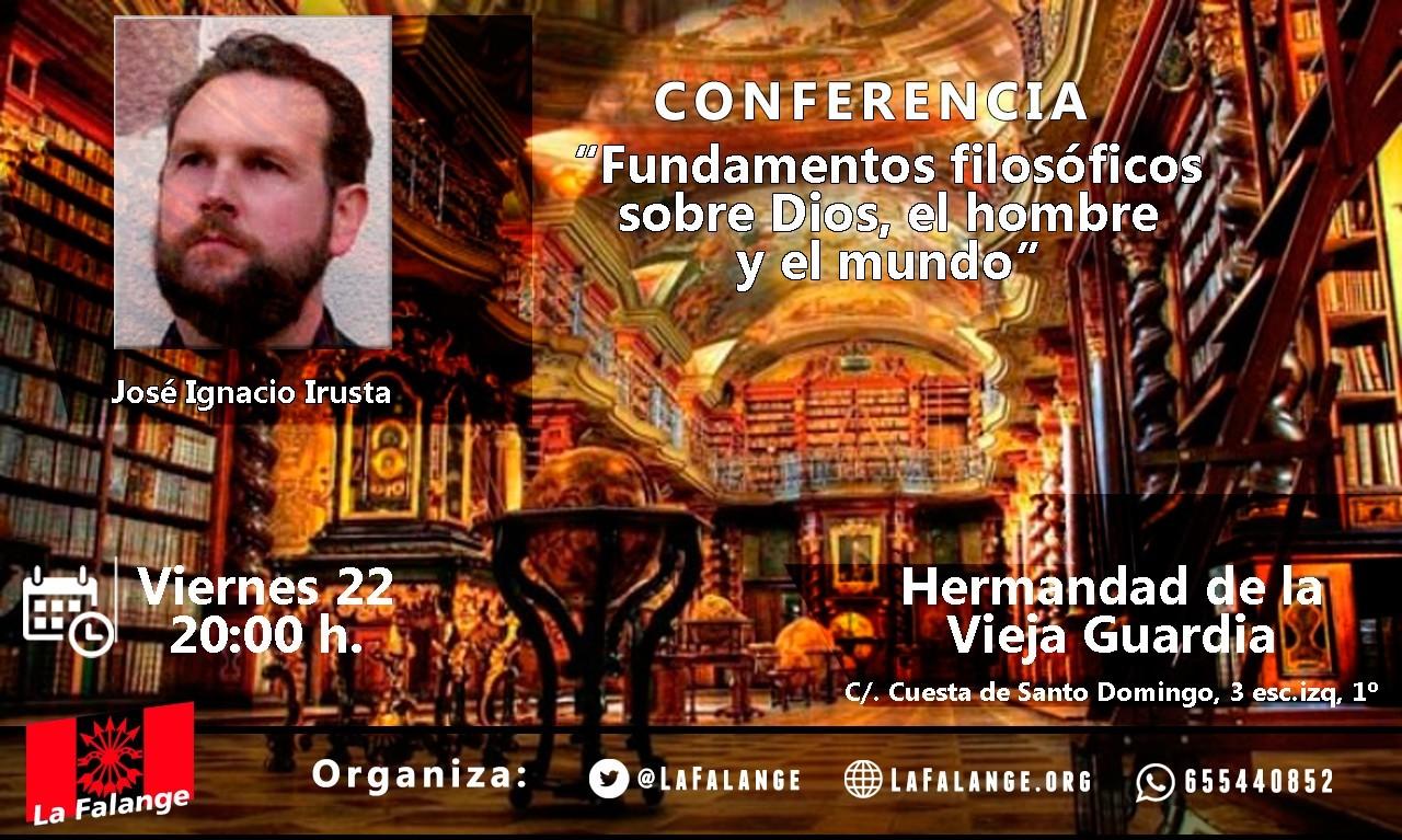 """Nuevo viernes cultural: """"Fundamentos filosóficos sobre Dios, el hombre y el mundo"""" por Jose Ignacio Irusta"""