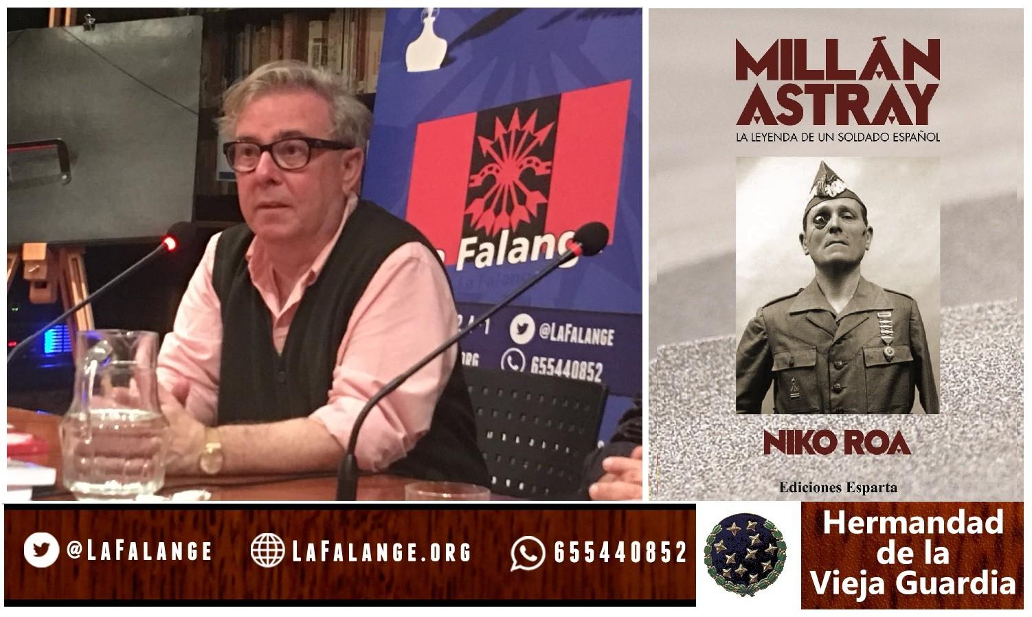 13 de Julio: Viernes cultural sobre Millán Astray con Niko Roa