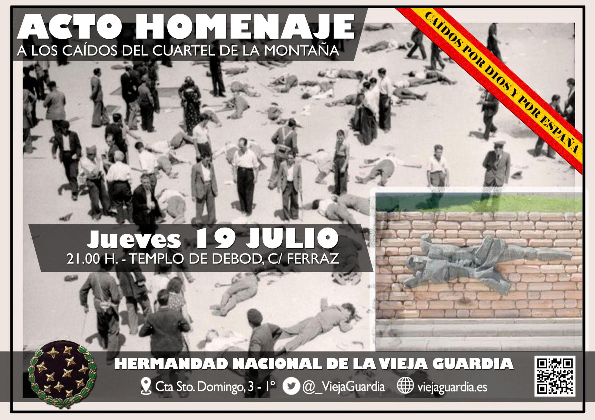 Jueves 19 de Julio: Acto de Homenaje a los Caídos del Cuartel de la Montaña