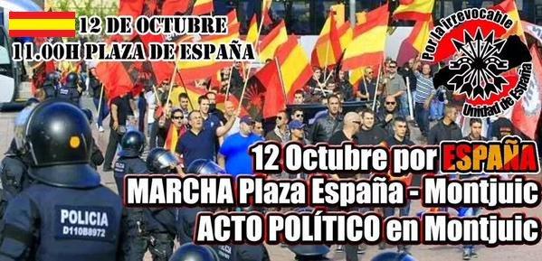 12 de Octubre – Día de la Hispanidad – Marcha y acto por España en Barcelona (vídeo)