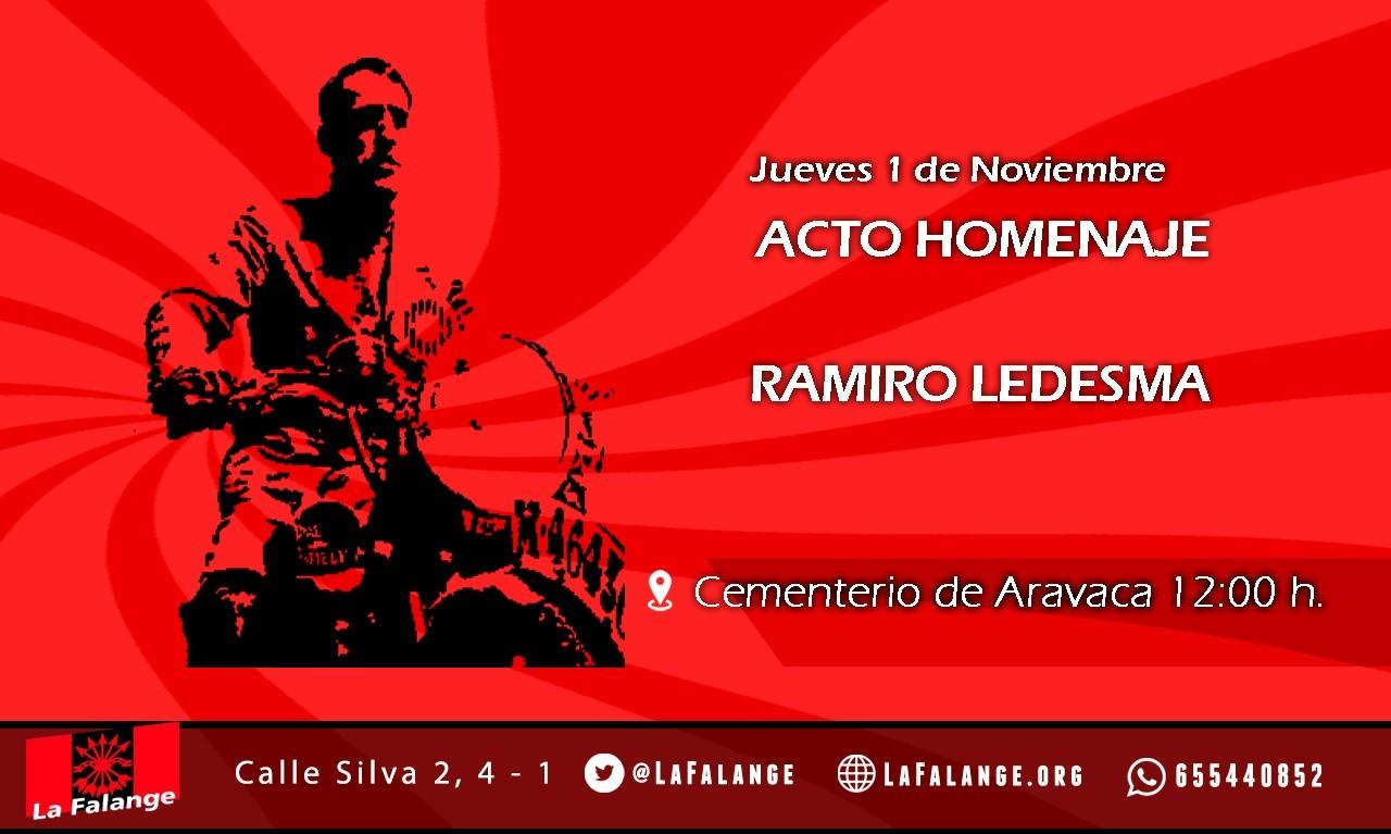 1 de Noviembre: Acto de homenaje a Ramiro Ledesma en Aravaca