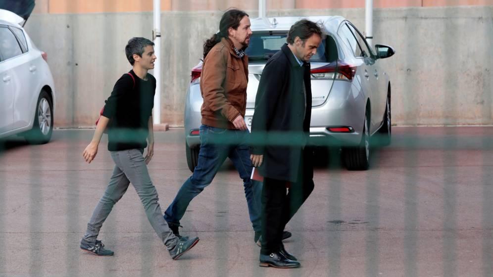 La reunión entre Pablo Iglesias y Oriol Junqueras en la cárcel