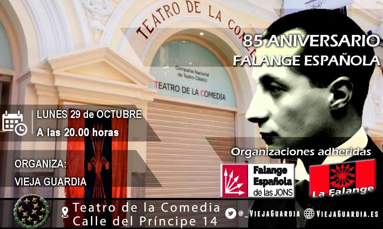 Recuerda: Lunes 29 de Octubre, ACTO de AFIRMACIÓN FALANGISTA ¡¡¡No faltes!!!
