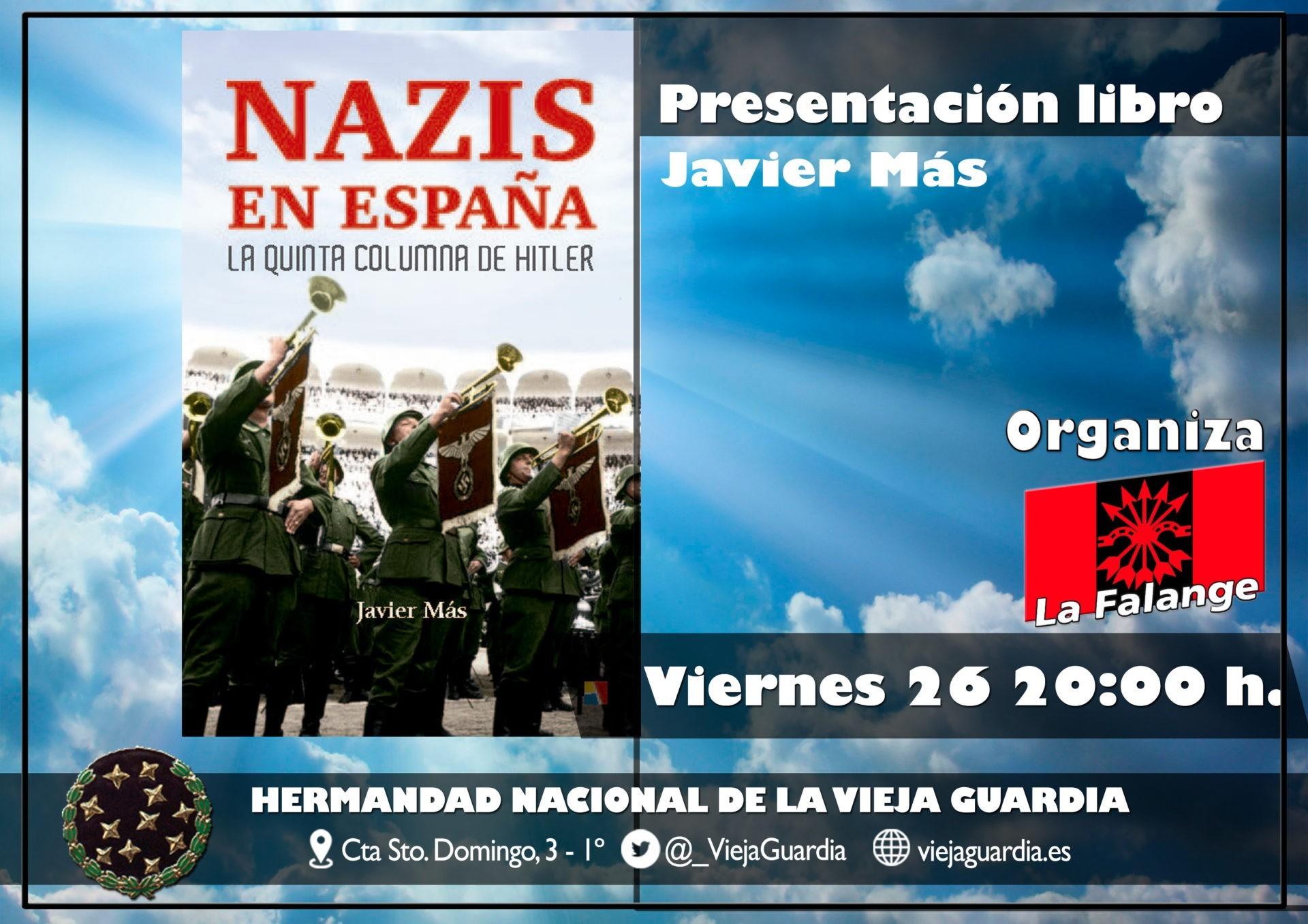"""Próximo viernes cultural: Presentación del libro """"Nazis en España"""""""