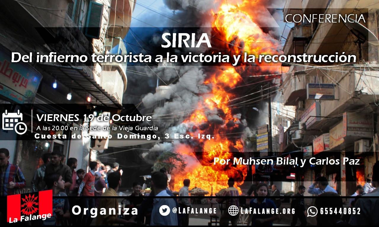"""Vuelven nuestros viernes culturales """"Siria: del infierno terrorista a la victoria y la reconstrucción"""" por Muhsen Bilal y Carlos Paz"""