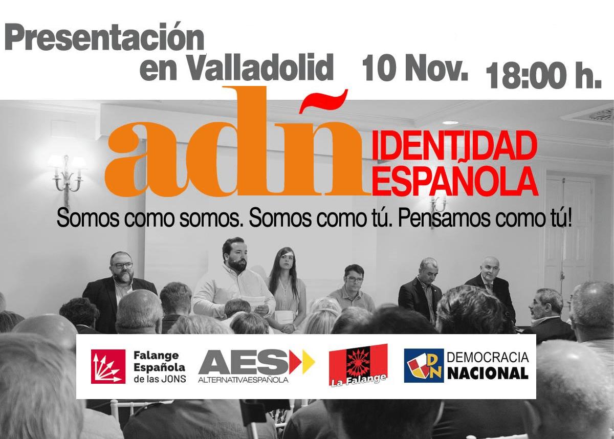 Sábado 10-N: Presentación de ADÑ en Valladolid