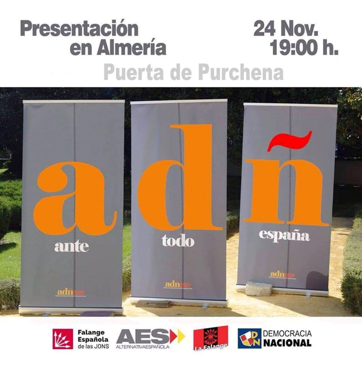 Sábado 24-Nov: Nueva ubicación para la presentación ADÑ en Almería