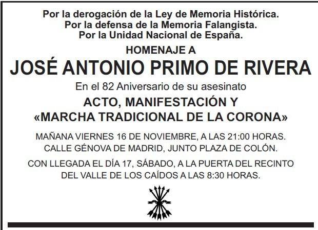 LA RAZÓN se niega a publicar la esquela en homenaje a José Antonio Primo de Rivera